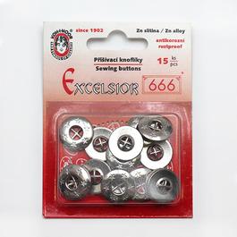 Knoflík WILLY čtyřdírkový Zn průměr 17mm (v.17) 15ks/karta