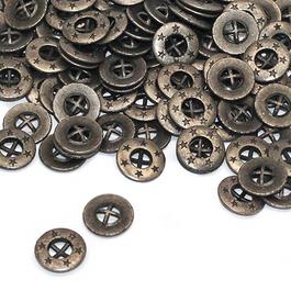 *Knoflík WILLY čtyřdírkový Zn průměr 14mm (v.14) 500ks/bal.