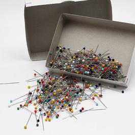 Špendlík napichovací Fe 31x0,60mm (v.31) skleněná hlava 500ks/bal.