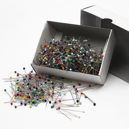 Špendlík napichovací Fe 31x0,60mm (v.31) skleněná hlava assort barev 1000ks/bal.