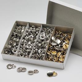 Knoflíky stiskací druky AM Ms průměr 15mm (v.6) 100ks/bal.