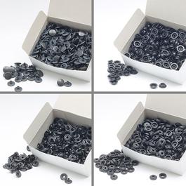 Knoflíky stiskací druky AM Ms oba nýty vysoké průměr 15mm (v.6) 500ks/bal.