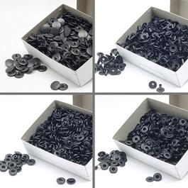 Knoflíky stiskací druky WUK Ms průměr 15mm (v.6/6) vysoký nýt 8,2mm 500ks/bal.