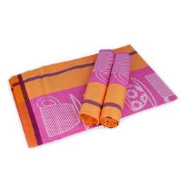 Utěrka šálky 50x70cm 100% bavlna tisk 3ks/bal.