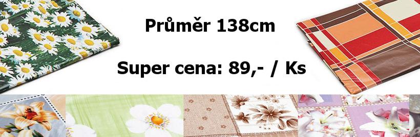 Ubrus PVC kulatý průměr 138 cm