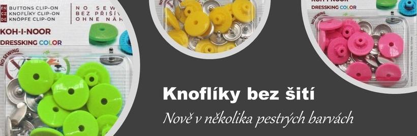 Knoflíky, které se nemusí přišívat...
