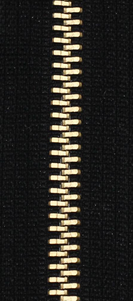 Zdrhovadlo nedělitelné Ms 6N Jeans 6cm 1000 černá (cena / kus)
