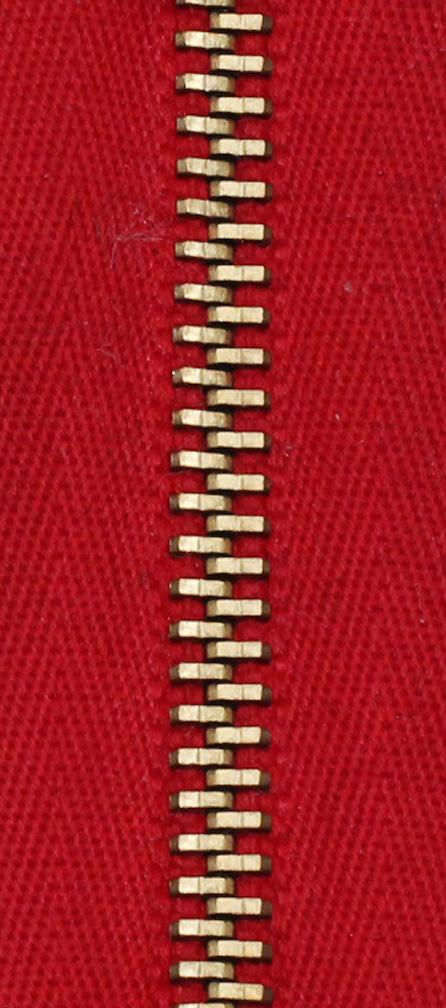 Zdrhovadlo nedělitelné Ms 6N Jeans 6cm 1372 červená (cena / kus)