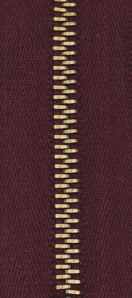 Zdrhovadlo nedělitelné Ms 6N Jeans 6cm 1563 vínová (cena / kus)