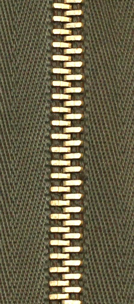 Zdrhovadlo nedělitelné Ms 6N Jeans 6cm 1771 khaki (cena / kus)