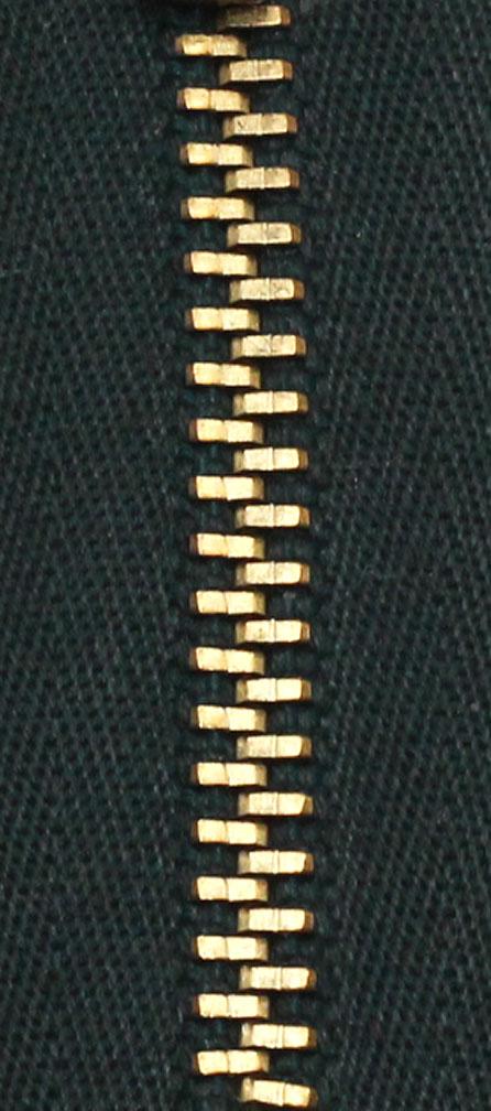 Zdrhovadlo nedělitelné Ms 6N Jeans 6cm 1792 tm.zelená (cena / kus)