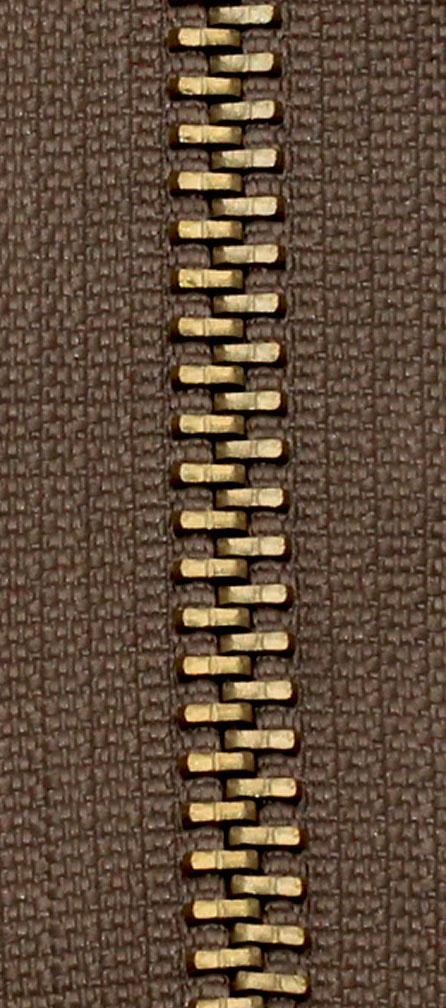 Zdrhovadlo nedělitelné Ms 6N Jeans 6cm 1802 hnědá (cena / kus)
