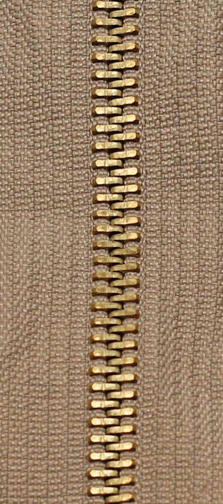 Zdrhovadlo nedělitelné Ms 6N Jeans 6cm 1812 béžová (cena / kus)