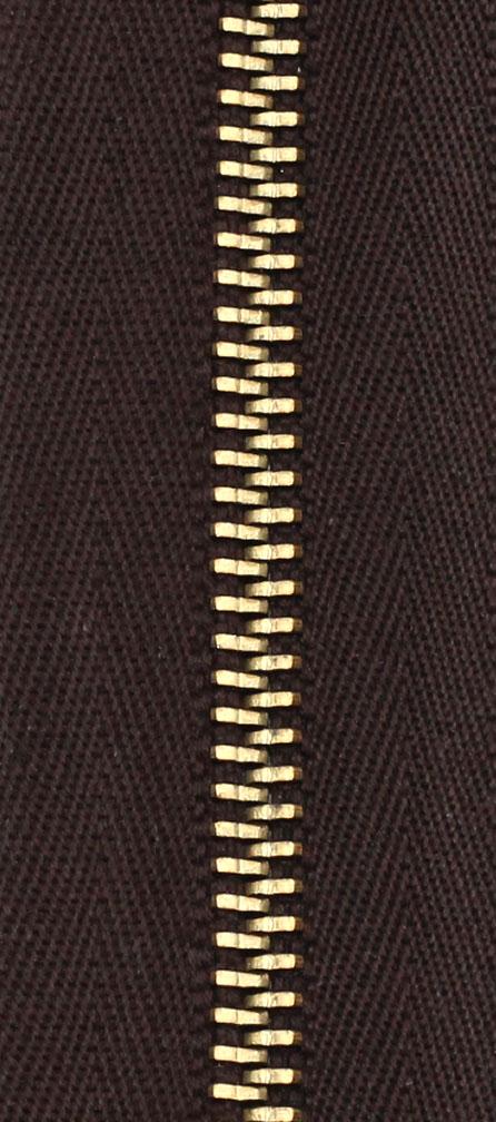 Zdrhovadlo nedělitelné Ms 6N Jeans 6cm 1882 hnědá (cena / kus)