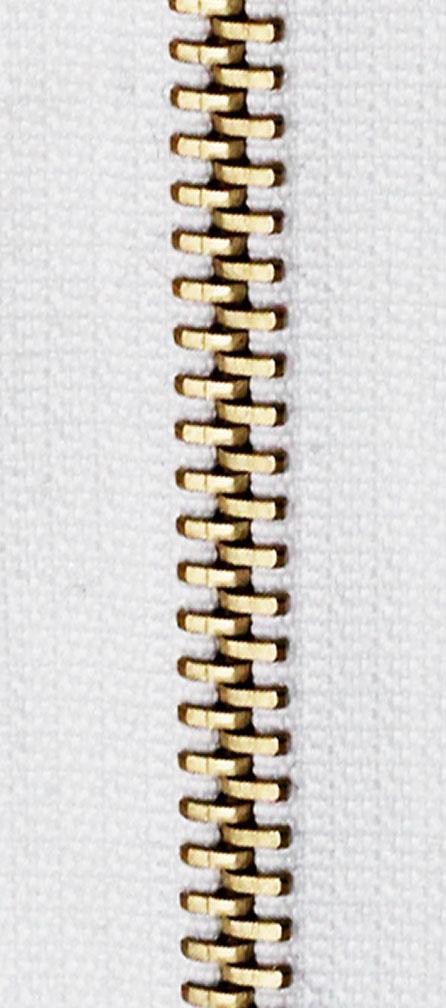 Zdrhovadlo nedělitelné Ms 6N Jeans 6cm 1900 bílá (cena / kus)
