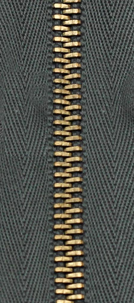 Zdrhovadlo nedělitelné Ms 6N Jeans 6cm 1952 tm.šedá (cena / kus)