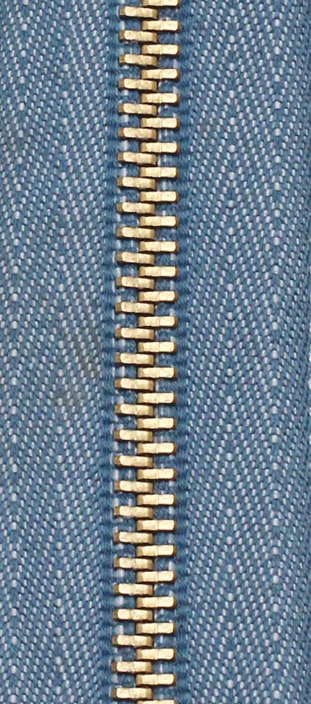 Zdrhovadlo nedělitelné Ms 6N Jeans 6cm 4540 melír světlý (cena / kus)