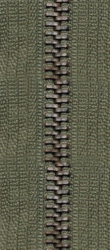 KOH-I-NOOR Zdrhovadlo dělitelné Ms 6R staromosaz 70cm 1763 khaki (cena / kus)