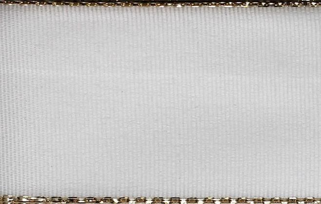 Stuha taft. s rexorem š.14mm 10m/bal. 100 Z/bílá (cena / balení)