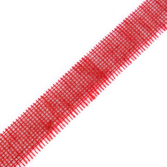 Stuha jutová 699 001 407 š.40mm 25m/bal. 123 červená (cena / metr)