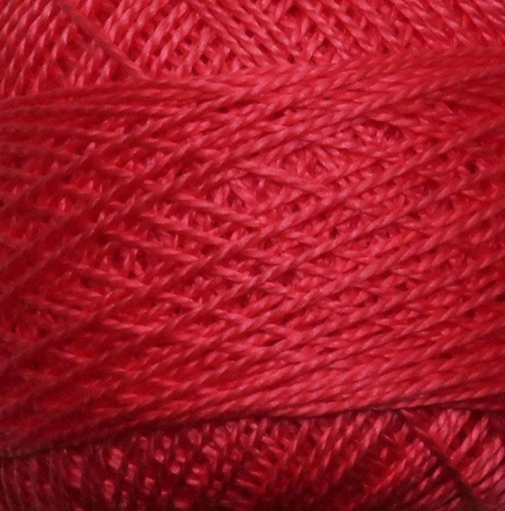 Příze Perlovka 100% bavlna 10g/85m 10ks/bal. 3262 červená (cena / klubko)