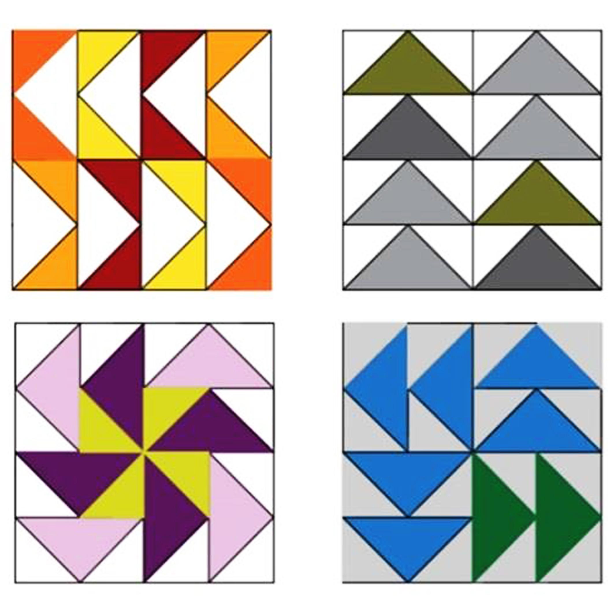 Šablona na patchwork Letící husy 1ks/bal sada 1x2 + 2x4 palce (inch) (cena / balení)
