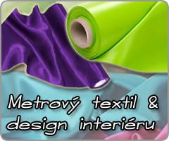 Metrový textil pro výrobu atraktivní bytové dekorace