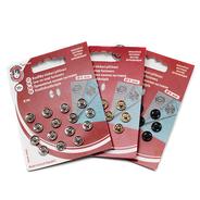 Knoflíky stiskací patentky KIN Ms prům. 9mm (v.1) 15ks/karta