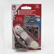 Knoflíky stiskací druky AM prům. 15mm (v.6)  Ms 10ks/karta