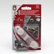 Knoflíky stiskací druky WUK prům. 15mm (v.6/4) Ms 10ks/karta